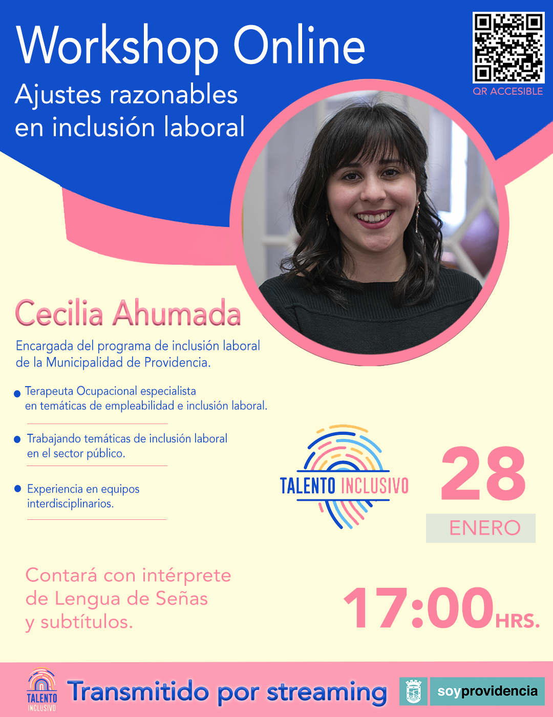 "Workshop: ""Ajustes razonables en inclusión laboral"""